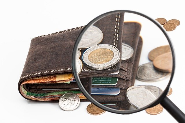 mince peněženka