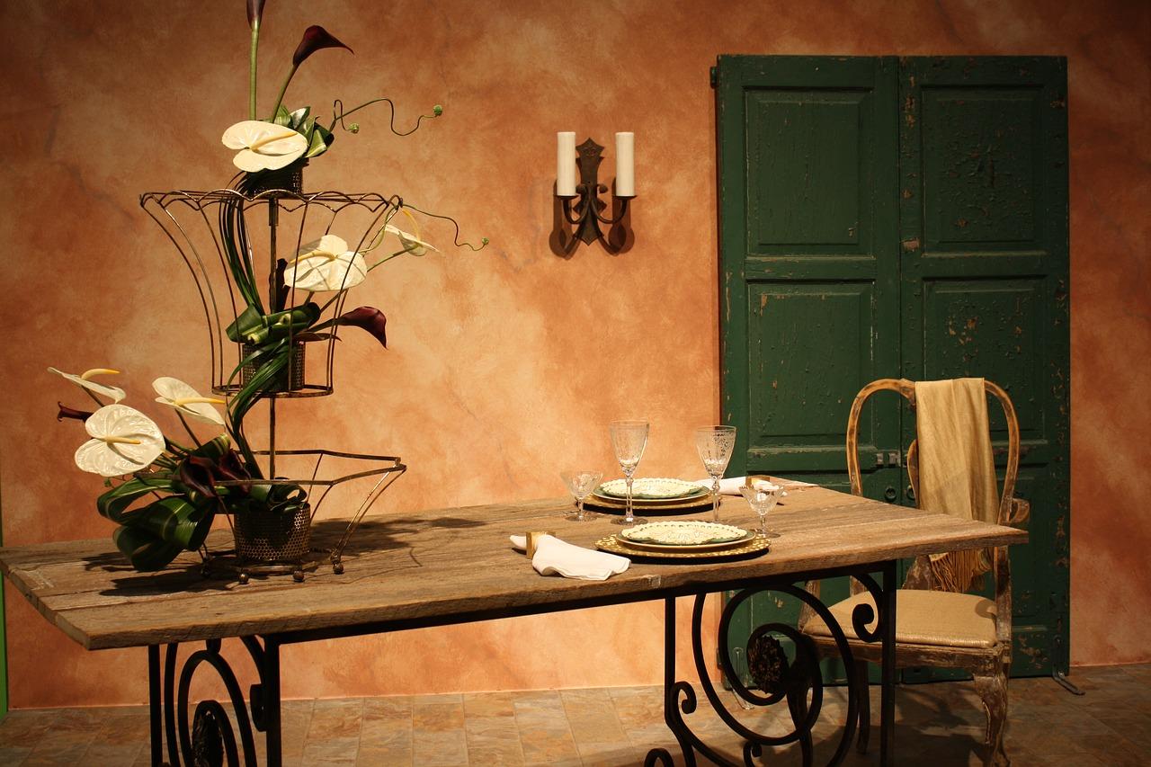 stůl, žídle